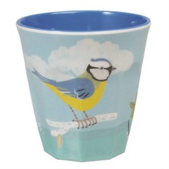 Rex International Rex mug pastel with bird Vintage