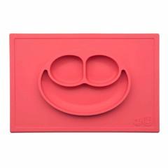 ezpz ezpz Happy Mat Silikon Platzmatte Teller Koralle rot
