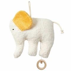 Efie Efie Spieluhr Elefant Organic | Mozarts Wiegenlied gelb kbA
