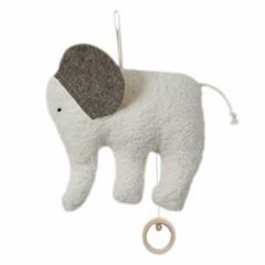 Efie Efie Spieluhr Elefant Organic | Schuberts Wiegenlied grau KbA