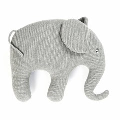 Smallstuff Smallstuff Kissen Elefant groß grau gestrickt