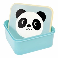 Rex International Rex Brotdose Lunchbox Panda Miko hellblau
