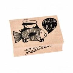 Petit Monkey Petit Monkey Stempel Holz Fisch | Thank You