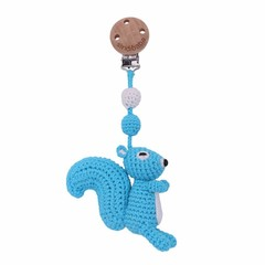Sindibaba Sindibaba Kinderwagenanhänger Rassel Eichhörnchen blau