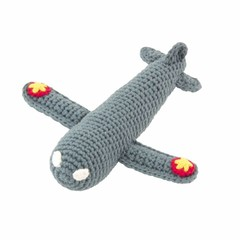 Global Affairs Global Affairs plane rattle crocheted gray