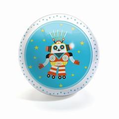 Djeco Djeco Ball Funky Robots 12cm robot blue