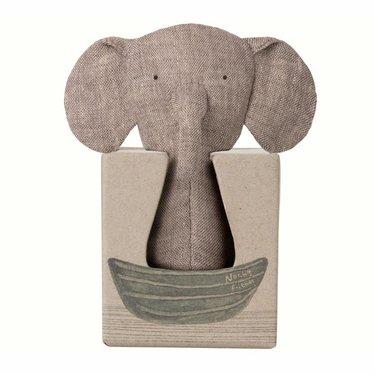 Maileg Maileg Elephant Rattle Knister Ears Mini Noah's Friends