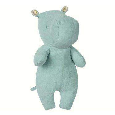 Maileg Maileg Nilfderd cuddly toy Hippo Safari friends aqua 21cm