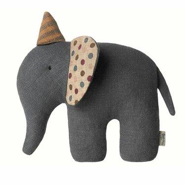 Maileg Maileg circus olifant mini knuffelbeest grijs 11cm