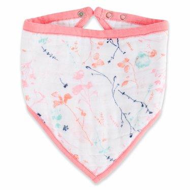 Aden + Anais Aden + Anais scarf Bandana Bib Petal Blooms pink