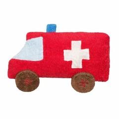 Efie Efie Auto Dinkelkissen Ambulanz rot kbA
