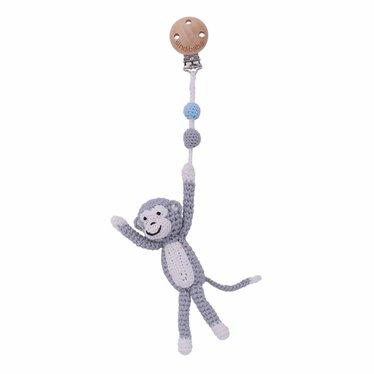Sindibaba Sindibaba wandelwagenhanger Monkey Charlie grijs