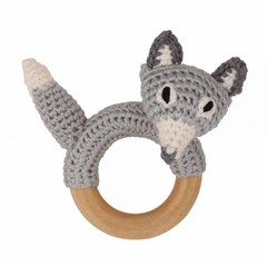 Sindibaba Sindibaba rattle grabbing wood fox gray