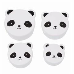 A Little Lovely Company Een klein leuk bedrijf Snackbox Panda 4er