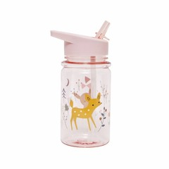 Petit Monkey Petit Monkey Trinkflasche | Forest Friends rosa