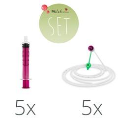 Vygon Vygon Ernährungs-Set 5x Spritze 5ml | 5x Sonde 40cm