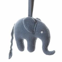 "Smallstuff Smallstuff muziekdoos olifant blauw ""Good evening ..."""