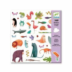 Djeco Djeco Sticker cute forest animals 160 pieces