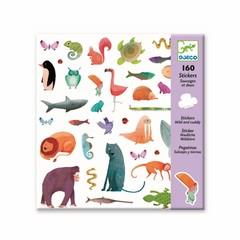 Djeco Djeco Sticker schattige bosdieren 160 stuks