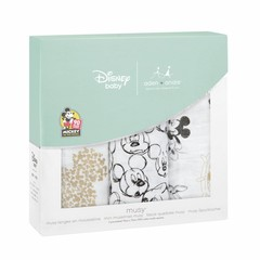 Aden + Anais Aden + Anais Musy Burp Cloth 70x70cm Disney Mickey's 90t 3pcs