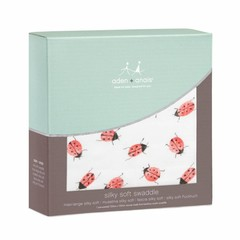 Aden + Anais Aden + Anais Swaddle Silky Soft Puck Cloth Lady Bug 120x120