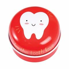 Rex International Rex tooth tin milk tin can made of red metal