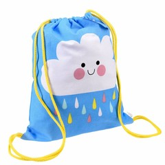Rex International Rex gym bag Cloud Happy Cloud blue cotton