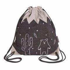 Roommate Roommate gym bag 35x30cm Mountain gray