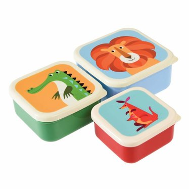 Rex International Rex Lunchbox Set Panda Cat Rabbit 3er