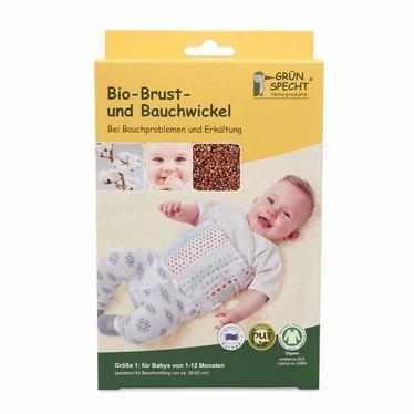 Grünsprecht Naturprodukte Grünspecht Bio Brust- und Bauchwickel Gr. 1 (1-12 Mon.)