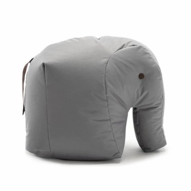 Sitting Bull HAPPY ZOO olifant grijs zitkussen Carl