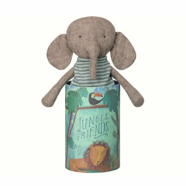 Maileg Maileg Elephant cuddly toy Jungle Friends with box