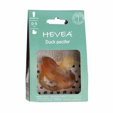 Hevea Hevea pacifier duck from 0-3 months | symmetrical