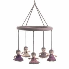 Smallstuff Smallstuff Mobile Babushka dolls pink
