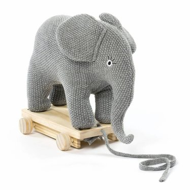 Smallstuff Smallstuff Pulling Animal Elephant knitted gray