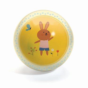 Djeco Djeco Ball Sweety 12cm Bunny geel