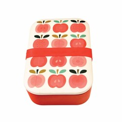 Rex International Rex Lunch Box Lunchbox Bamboo Vintage Apple
