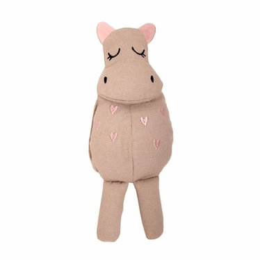 Roommate Roommate Kuscheltier Puppe Hippo grau ca. 30cm