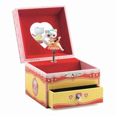 Djeco Djeco jukebox sieradendoos kattenrood