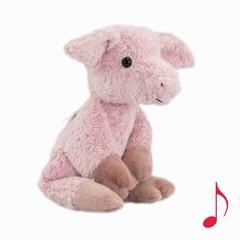 """Kallisto Kallisto Pig Knuffel Musical """"Lullaby"""" Pink Bio"""