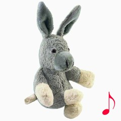 """Kallisto Kallisto cuddly donkey Musical """"Dear Moon"""" gray Bio"""