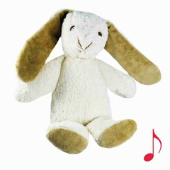"Kallisto Kallisto Rabbit Music Box white ""Sleep my child ..."""