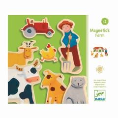 Djeco Djeco Wood Magnets Boerderijdieren 24 delen