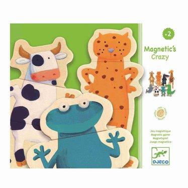 Djeco Djeco Wood Magneten crazy wildlife 24 delen