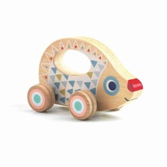 Djeco Djeco Baby Schiebetier Rouli hedgehog made of wood