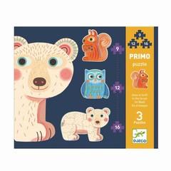 Djeco Djeco educatief spel Kombi Puzzle Primo in het bos
