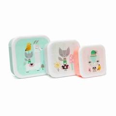 Petit Monkey Petit Monkey Lunch Box Set | Lama Friends 3er