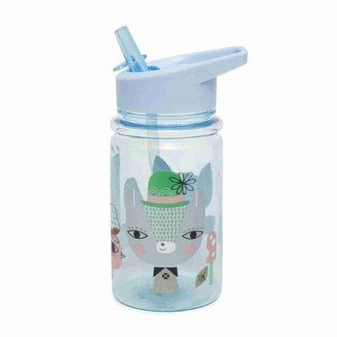 Petit Monkey Petit Monkey Trinkflasche | Lama Friends blau