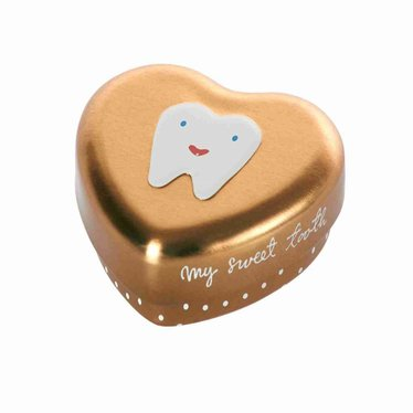 Maileg Maileg tooth box heart First tooth gold
