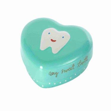 Maileg Maileg tooth box heart first tooth mint